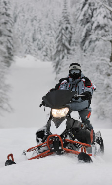 Snowmobiling in Montana and Yellowstone National Park